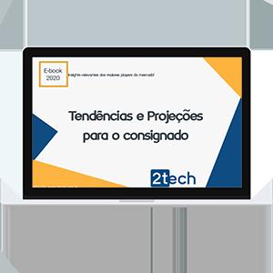 notebook com tendências e projeções do consignado