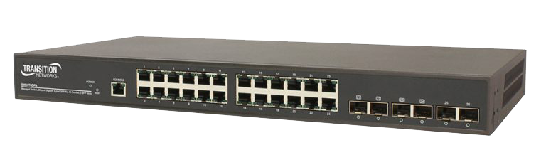Switch Gerenciável Gigabit Ethernet Camada 2 20 portas 10/100/1000Base-T + 4 portas combo 100/1000Base-X SFP/RJ-45 + 2 100/1000Base-X SFP Slots Cód. Policom 97115 – PN SM24T6DPA-BR Transition Networks Descrição   Este produto é um switch camada 2 gerenciável de alta performance com capacidade de comutação de 52Gbps. Fornece 20 portas de cobre 10/100/1000, 4 portas combo E dois slots SFP 100/1000  dual speed.   RECURSOS •Suporta protocolo de empilhamento IPv4/IPv6; •Suporta Jumbo Frame de até 9K bytes; •Autenticação – RADIUS 802.1x, TACACS+; •Segurança – Suporta SSH/SSL; •Port based ou tagged (802.1Q) VLAN, MAC based VLAN, Management VLAN e Private VLAN Edge; •DHCP Relay incluindo opção 82; •L2/L3/L4 ACLs suporta MAC ACL, IP ACL padrão/estendido; •LLDP (Link Layer Discovery Protocol); •Eficiência energética IEEE 802.3az; •IP Source Guard, Port Security; •Servidor DHCP; •Gerenciamento de IP individual; •Sistema de gerenciamento de dispositivo (DMS): monitoramento gráfico, agrupamento, monitoramento de tráfego.  Recursos de software •Gerenciamento: Web Management, SNMP V1/V2c/V3, Telnet, CLI •Port Trunk: suporta IEEE 802.3ad port trunk com protocolo de agregação e link (LACP) e tronco estático; •IGMP: suporta IGMP Snooping V1/V2/V3, GVRP, IGMP Proxy e IGMP Querier; •Qualidade de Serviço: suporta até 8 filas de saída por porta, habilitando gerenciamento diferenciado de até 8 tipos de tráfego através do empilhamento. Prioridade estrita e WRR; •Spanning Tree: suporta IEEE 802.1s MSTP, IEEE 802.1w RSTP e IEEE 802.1d STP Compliant; •VLAN: Port Based VLAN, IEEE 802.1Q tag-based, 4k VLAN entries, QinQ, MAC-based VLAN, Private VLAN, Guest VLAN, Voice VLANs e gerenciamento de VLAN; •IPv4 / IPv6 Static Routing •Atualização de Firmware, configurar backup/restauração através de TFTP e HTTP;