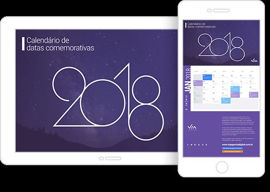 Calendário de datas comemorativas 2018