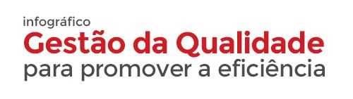 Infográfico Gestão da Qualidade para promover a eficiência