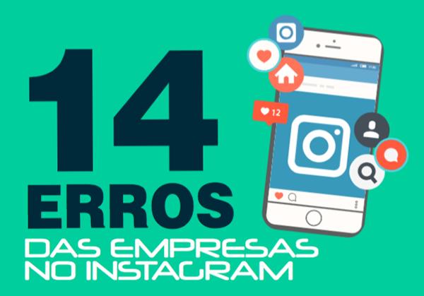 Banner dos 14 erros das empresas no Instagram