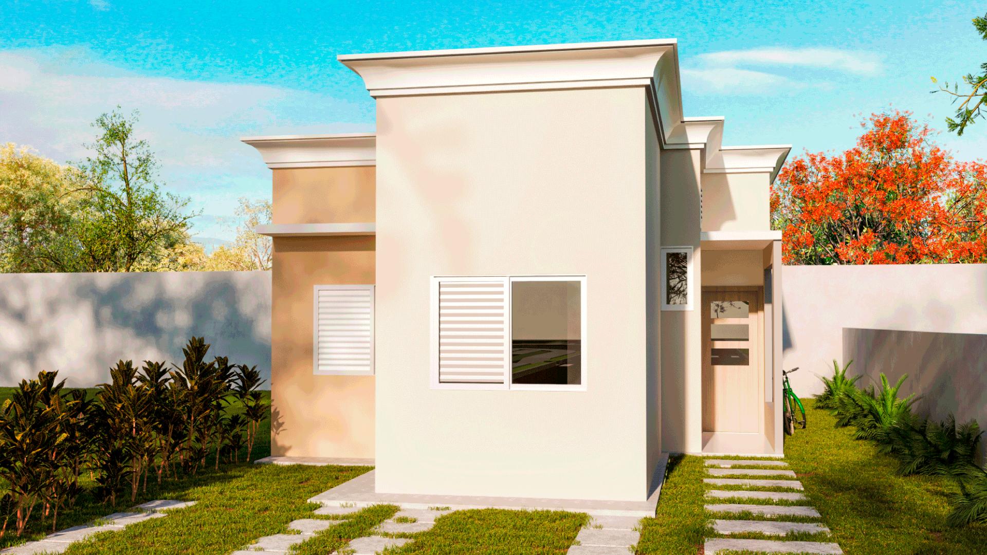 fachada das casas