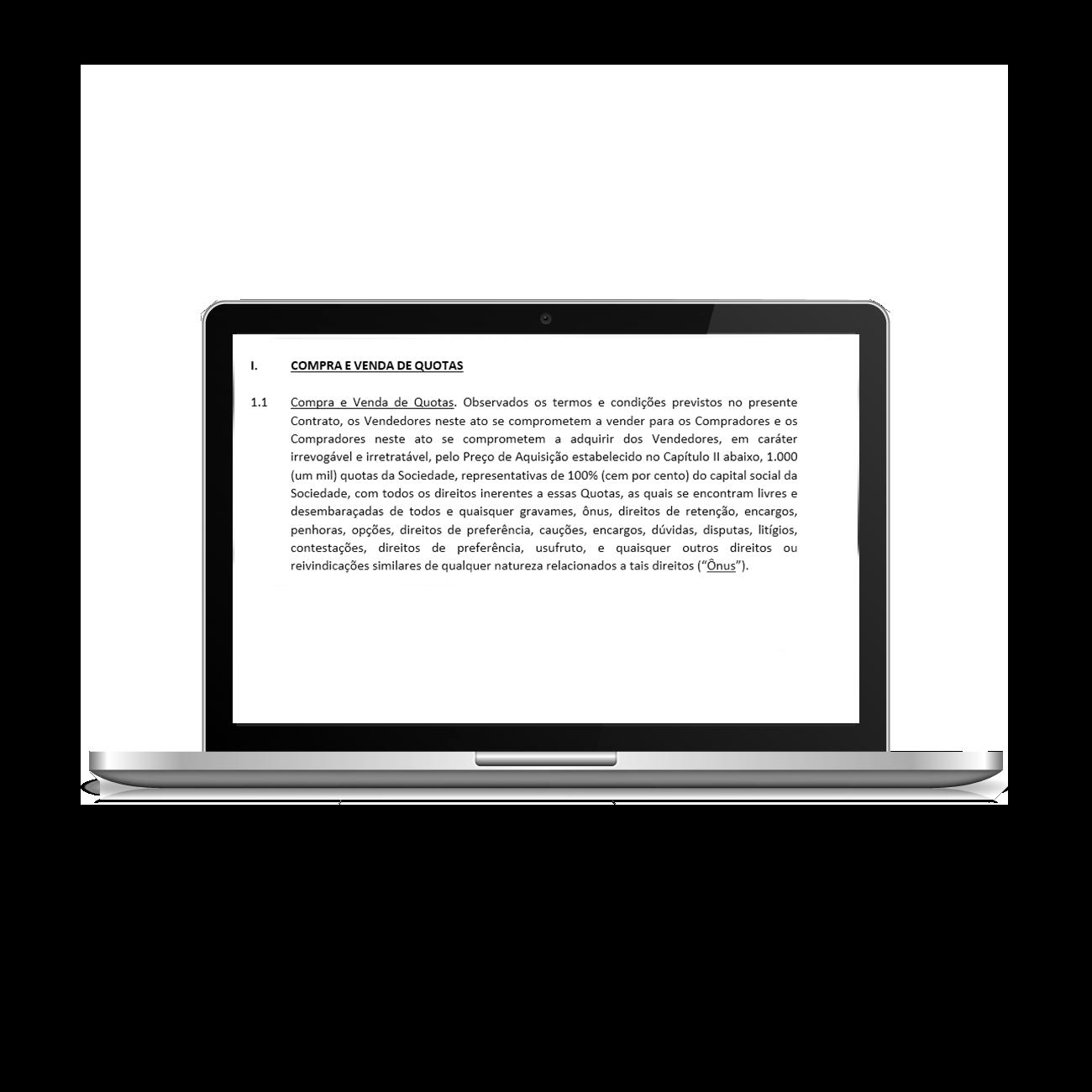 modelo do instrumento particular de compra e venda de quotas de capital