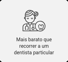 Mais barato que recorrer a um dentista particular