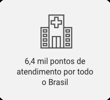 6,4 mil pontos de atendimento por todo o Brasil