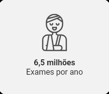 6,5 milhões de exames por ano