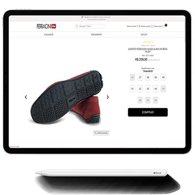 O software da indústria calçadista com aplicativo de vendas