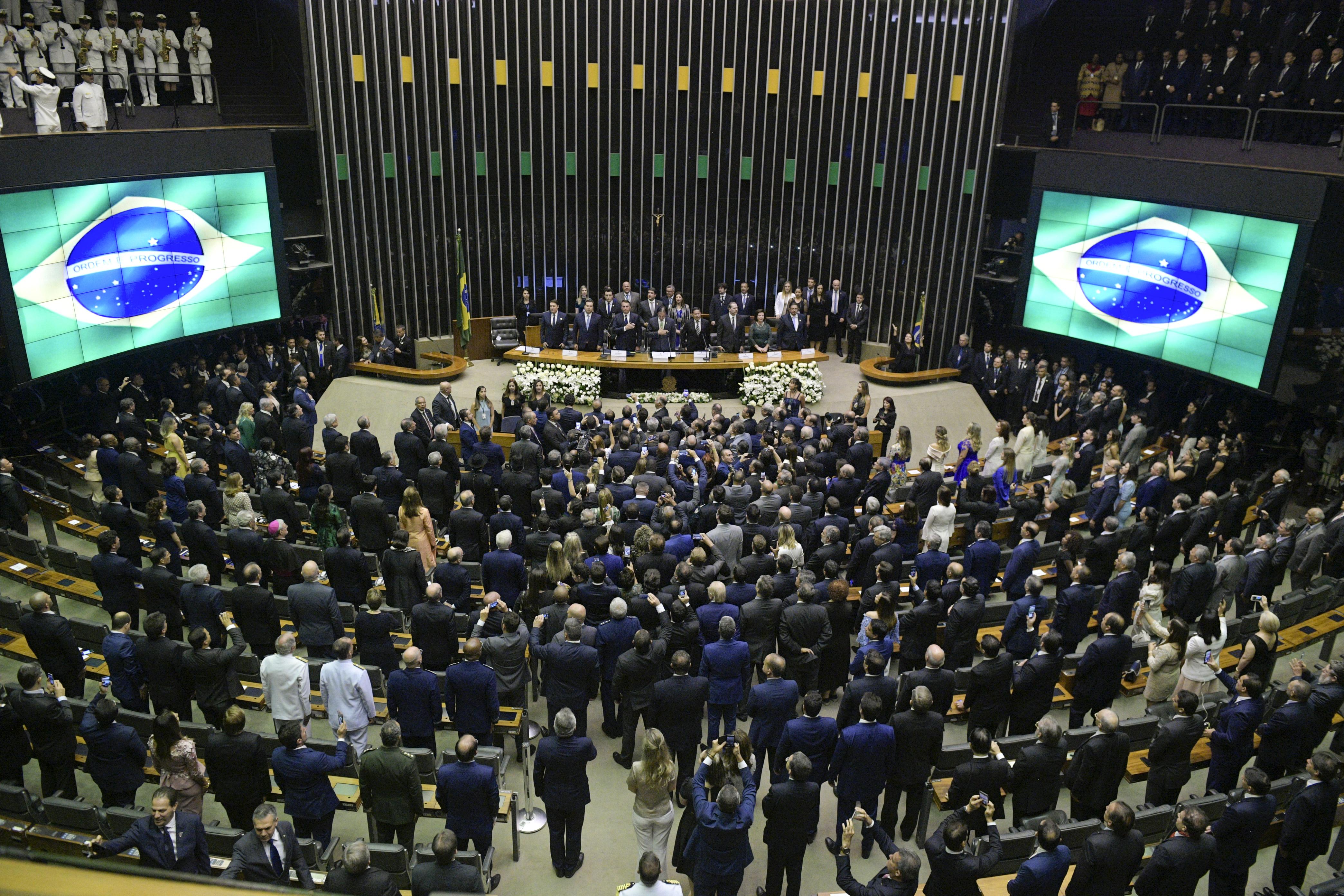 Imagem do congresso nacional na posse de Bolsonaro