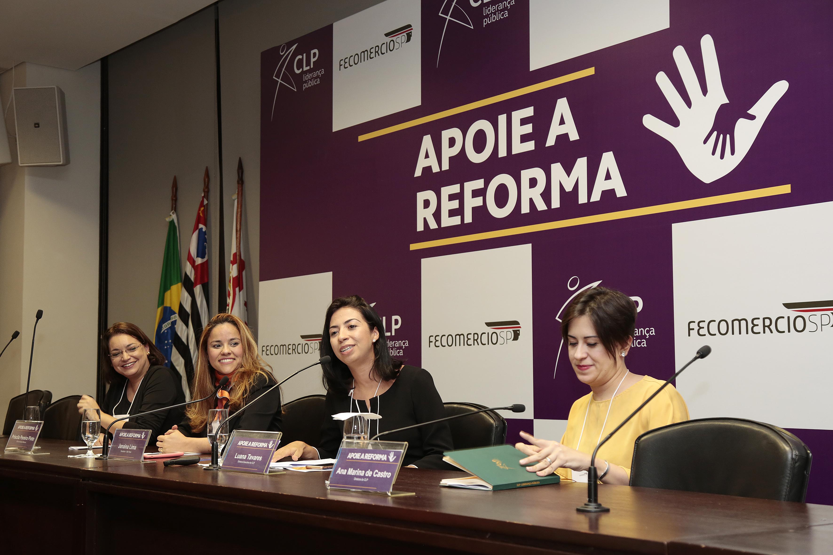 Lançamento da pesquisa IBOPE/CLP e rede Apoie a Reforma