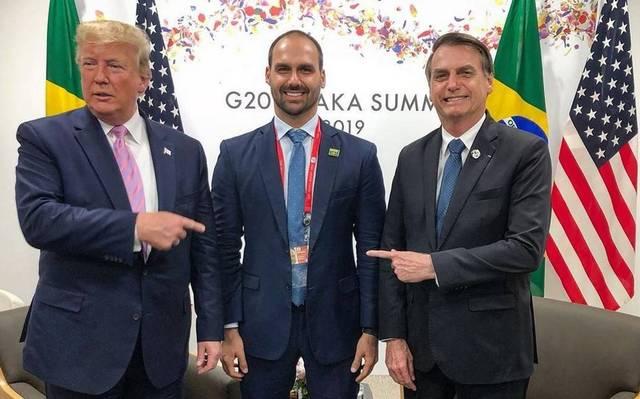Donald Trump, Eduardo Bolsonaro, Jair Bolsonaro