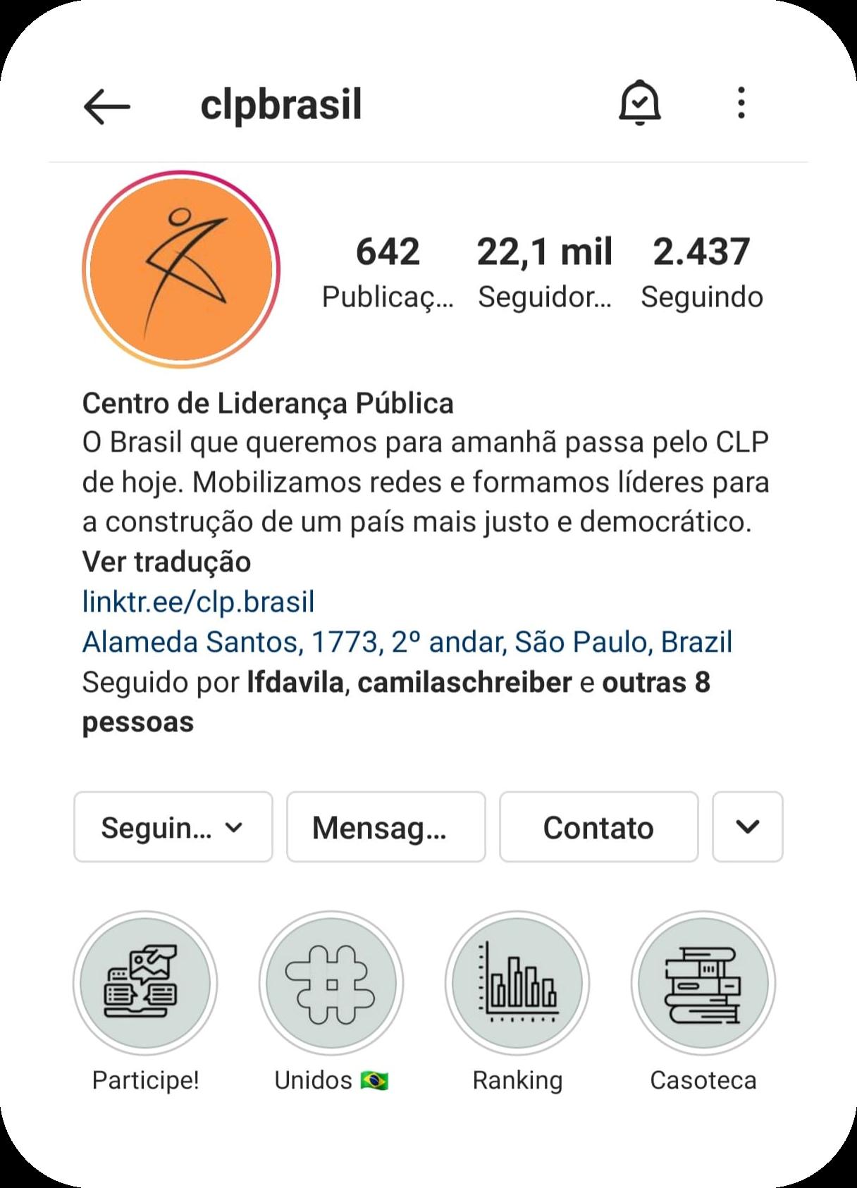 Instagram do CLP