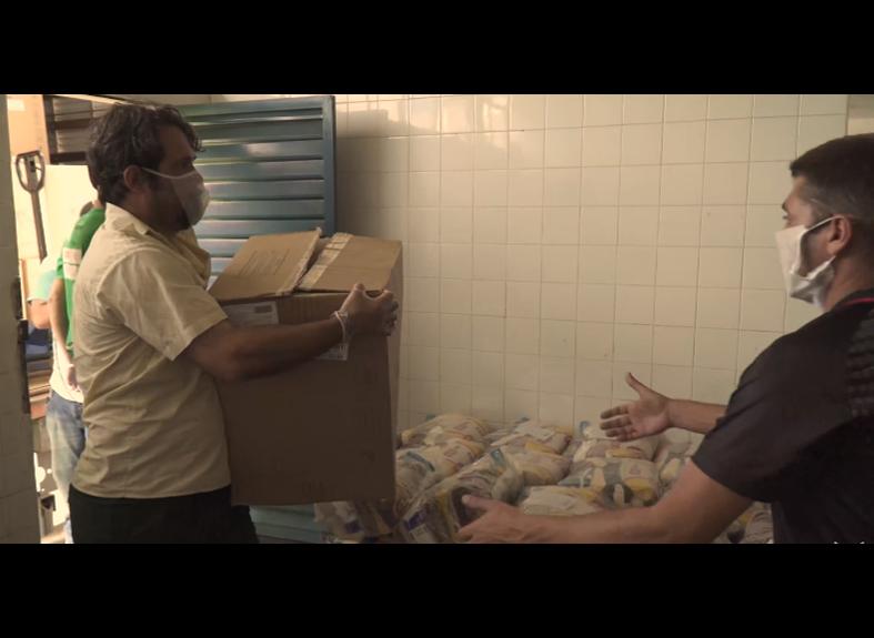 Doação de cestas
