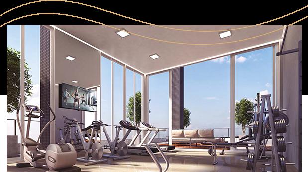 Del Paine - Área fitness e sala de jogos