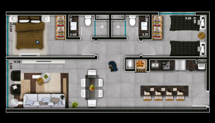 Livin' House Resort - 2 Dorms.