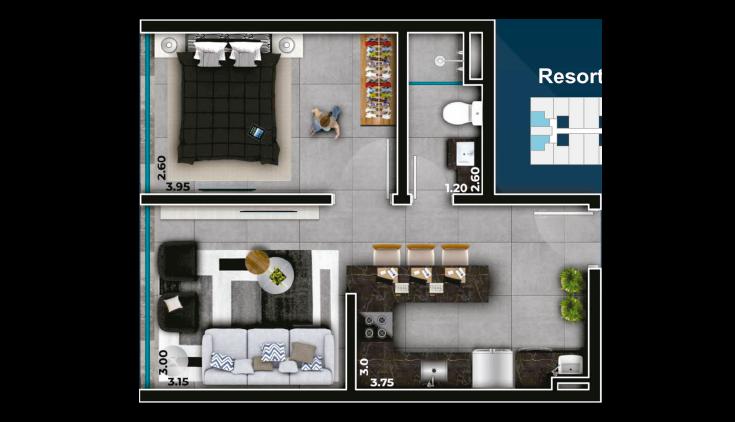Livin' House Resort - 1 Dorm.