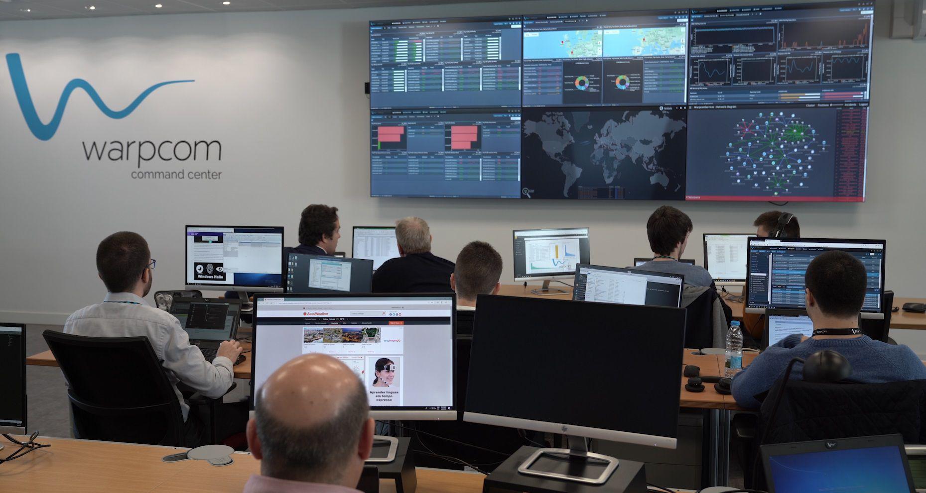 Warpcom Command Center - Serviços Geridos (NOC e SOC) e Serviços de Suporte