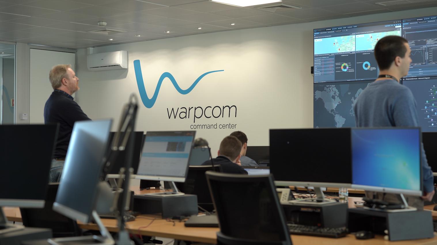 Warpcom Command Center - Serviços Geridos (NOC e SOC) e Serviços de Suporte à sua infraestrutura tecnológica