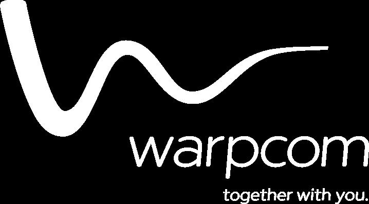 Warpcom white logo