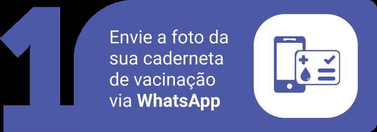 1 - envie a foto da sua caderneta de vacinação via whatsapp