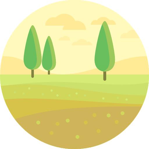 ícone área plana