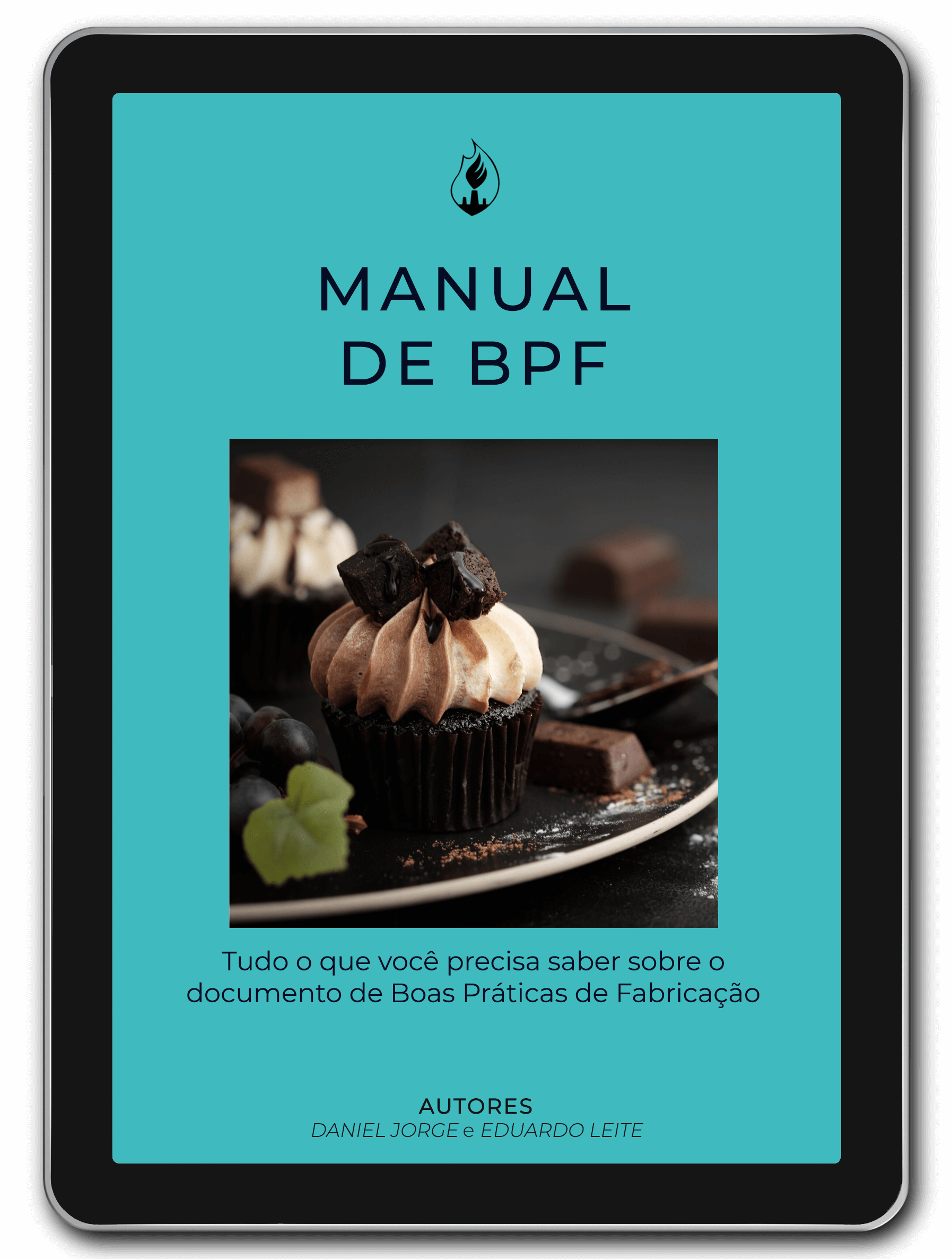 Ipad com a capa do manual de BPF