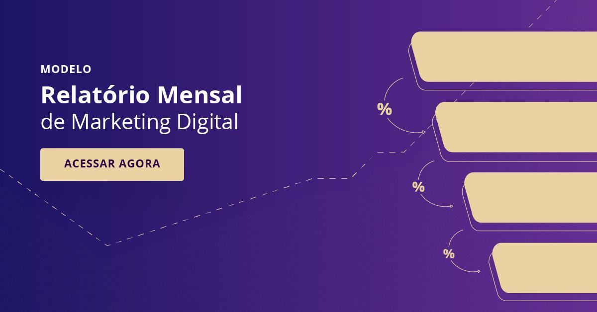 relat u00f3rio de marketing digital mensal  template em powerpoint