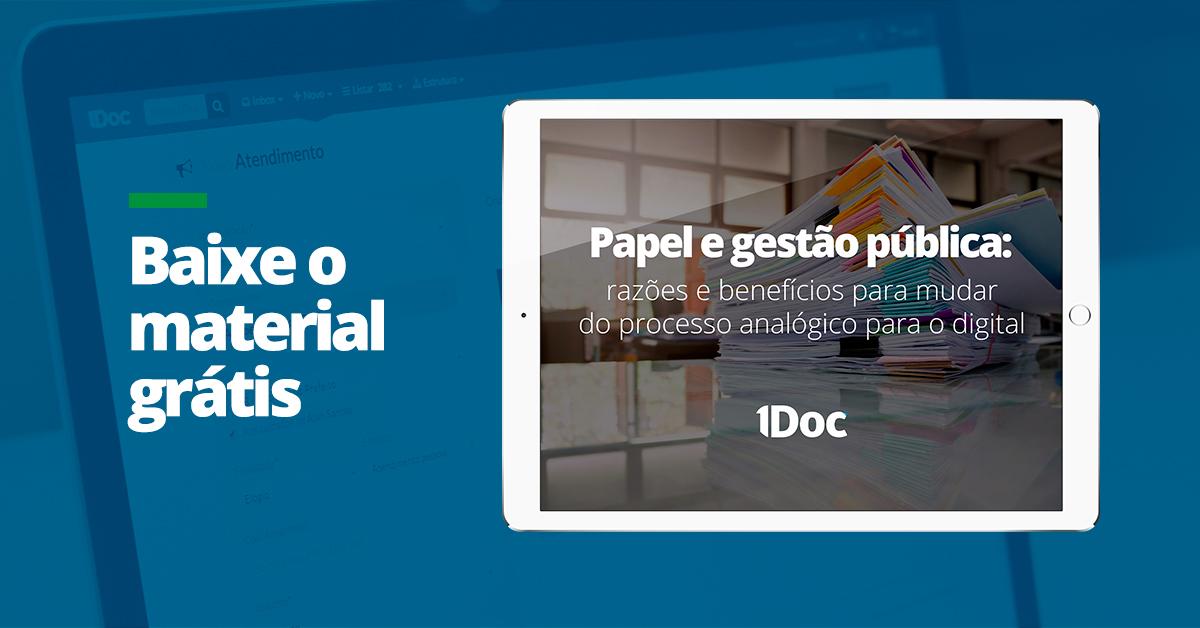 [Download] Whitepaper - Papel e gestão pública
