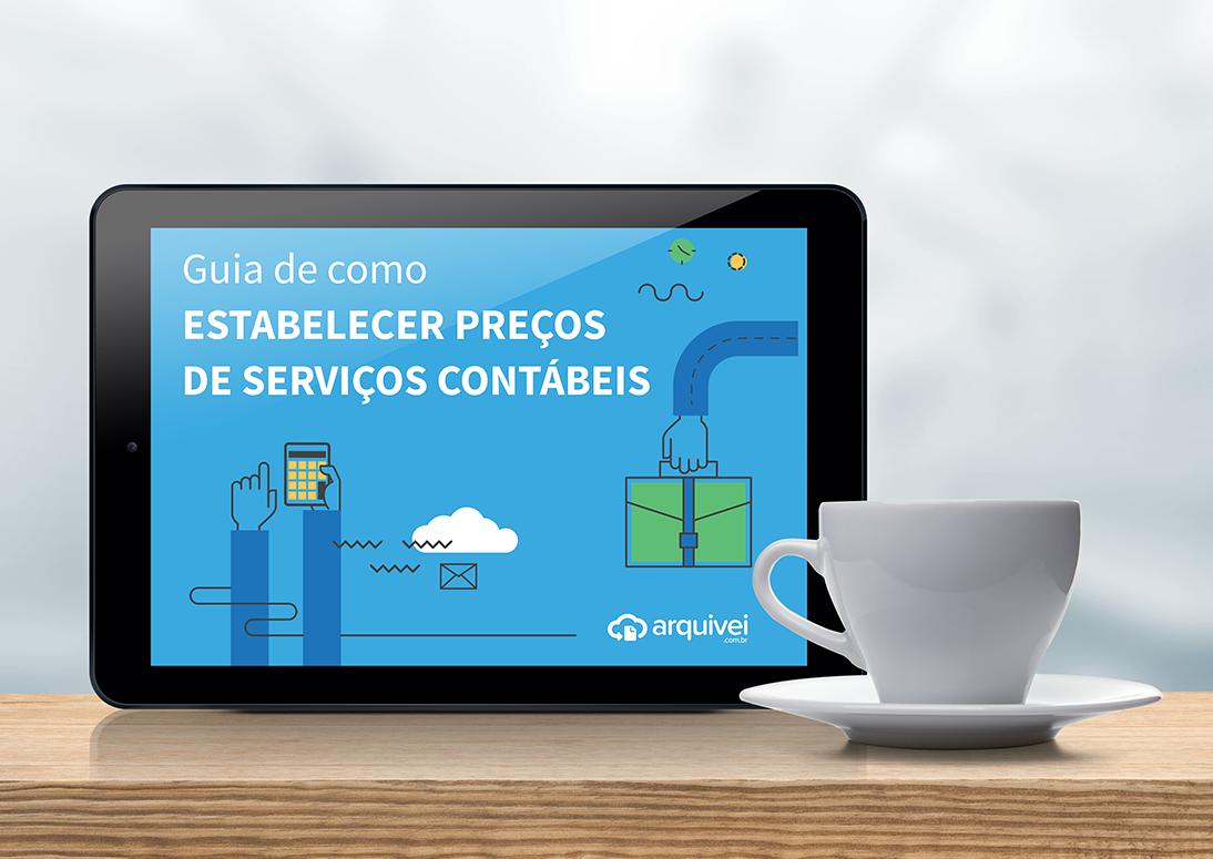 Ebook Guia de Como Estabelecer Preços de Serviços Contábeis para baixar com o formulário.